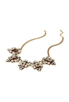 Multicolor Gold Rhinestone Triangle Statement Necklace | FOREVER21 - 1000135414 $15