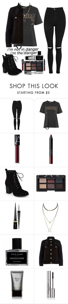 """""""x BAD HABITS x"""" by hyqnotic ❤ liked on Polyvore featuring Topshop, NARS Cosmetics, Journee Collection, GET LOST, Christian Louboutin, Hervé Gambs, River Island, Hourglass Cosmetics and Sisley"""
