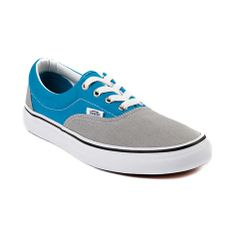 Shop for Vans Era Skate Shoe in Gray  Light Blue at Journeys Shoes. Shop today for the hottest brands in mens shoes and womens shoes at Journeys.com.Classic vulcanized shoe from Vans thats perfect for skating or everyday wear. Features a two-toned canvas upper, padded collar, and vulcanized waffle outsole. Available only online at Journeys.com and SHIbyJourneys.com!