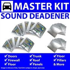 Zirgo ZIR76612 Heat & Sound Deadener for 96-03 BMW 5 Series E39 Master Kit 13773cm2