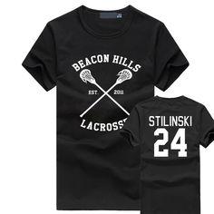 BEACON HILLS LACROSSE Men T-shirt Wolf Stiles Stilinski Teen 24 Brand Clothing Summer hip hop fitness t shirt homme fashion tops #women, #men, #hats, #watches, #belts, #fashion, #style