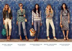 Tory Burch resort wear: geometric, stripes, bohemian, mixed media