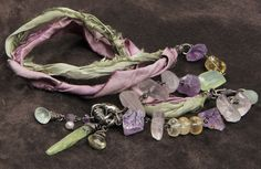 Lilies & Sage necklace: amethyst rose quartz by StudioEgallery