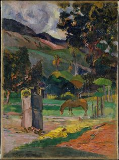 Gauguin, Paul Paysage tahitien (Tahitian Landscape) 1892 Oil on canvas, x cm Metropolitan Museum of Art, New York See also: Paul Gauguin, Claude Monet, Van Gogh, Impressionist Artists, Poster Prints, Art Prints, Henri Matisse, Pierre Bonnard, Metropolitan Museum