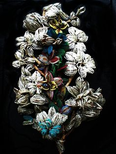 Reserved for Toni / 1800's German Antique Beaded Bouquet Flowers Art Nouveau Beads Victorian Old Vintage Wedding Heirloom Bridal. $95.00, via Etsy.