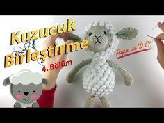 Amigurumi Kuzu Yapımı   Part 4 (Final) - YouTube Baby Knitting Patterns, Amigurumi Patterns, Crochet Patterns, Crochet Dolls, Crochet Hats, Dinosaur Stuffed Animal, Creations, Baby Shower, Christmas Ornaments