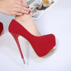 Low Party Stiletto Heels Round Toe High Platform Super Solid Color Shoes Cut tCqHHw6v