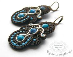www.facebook.com/... Rękodzieło-biżuteria sutasz. Handmade-soutache jewellery. #blue #valentinesday #earrings #kolczyki #agat #brown #walentynki Drop Earrings, Facebook, Handmade, Jewelry, Fashion, Moda, Hand Made, Jewlery, Jewerly