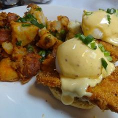 34ca5c07fb5 Eggs Benedict with Fried Chicken