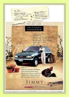 The Jimmy, love my Jimmy! Car Advertising, Gmc Trucks, General Motors, Fast Cars, Motocross, 1990s, Chevy, Automobile, Vehicle