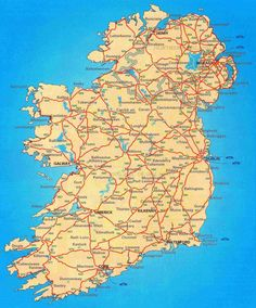 ireland map political with cities of dr odd of ireland map dr odd s detailed in english tourist s ireland map of