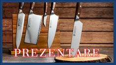 Prezentare cuţite primite de la Maranc Magnetic Knife Strip, Knife Block, Kitchen Knives