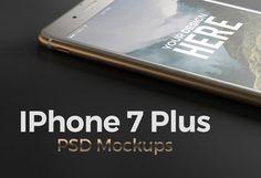 Iphone 7 Plus. PSD Mockups by Egor Shkolnikov on @creativemarket