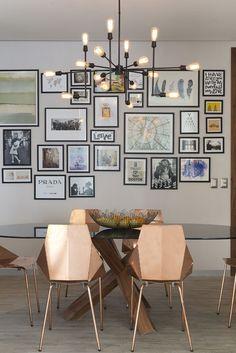 Décor do dia: sala de jantar geométrica e terrosa - Casa Vogue | Décor do dia