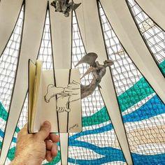 SketchBlog — Pé de Anjo #anjo #angel #brasilia #catedral...