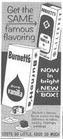 Burnette's Pure Vanilla 1959 Ad Picture