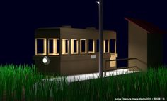A light rail car of 1950s in Japan by 3ds Max 昭和30年頃の軽便車輌/3ds Max