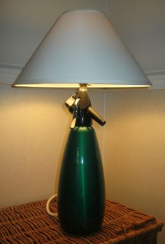 TABLE LAMP SPARKLETS SODA SYPHON HOSTMASTER MODEL UNIQUE RETRO UPCYCLED ONE OFF