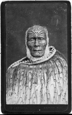 Ihaka Whaanga ca Photography and the Portraits of Gottfried Lindauer - Lindauer Online Maori Face Tattoo, Ta Moko Tattoo, Maori Tattoos, Borneo Tattoos, Thai Tattoo, Face Tattoos, Tribal Tattoos, Polynesian People, Polynesian Art