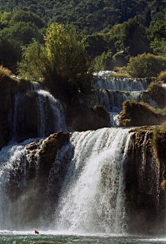 Waterfall on Krka, Sibenik, Croatia