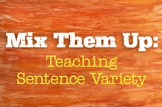 Students seem to learn one basic pattern of subject, verb, and object and stick to that without fail. Although the audience for this article may be middle school/high school teachers, these suggestions can be applied to younger writers. Teaching English Grammar, English Writing, Teaching Writing, Teaching Tips, Writing Skills, Middle School Grammar, Middle School Writing, Middle School English, Connecting Words