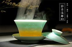 200ml chinese Longquan celadon porcelain gaiwan ceramic tea cup and saucer vintage kung fu drinkware Service set