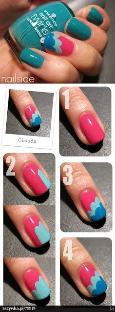 clouds in your #nails #DIY