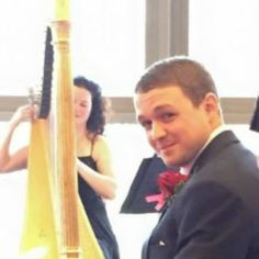Wedding harpist Michelle Dalton plays for Lee and Celeste at Drayton Manor Hotel