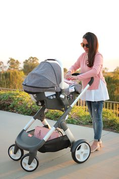 StylishPetite.com | Stokke Crusi Stroller with Infant Stokke Pipa Car Seat