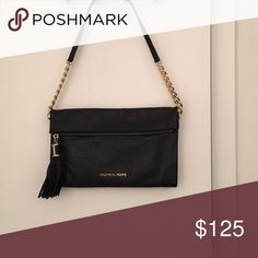 Michael Kors Leather Bag Black leather with gold hardware, top zip. Brand new! Michael Kors Bags Mini Bags