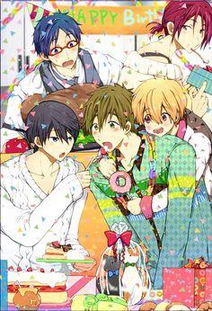 So adorable ! Rin Matsuoka, Haruka Nanase, Rei Ryugazaki, Splash Free, Free Eternal Summer, Makoharu, Free Iwatobi Swim Club, Shall We Date, Free Anime