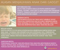 Alasan Menjauhkan Anak Dari Gadget? ~ Infografis Kesehatan