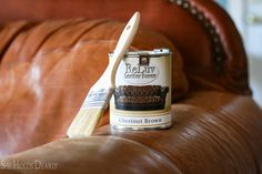 How to paint leather furniture, dye leather, chair, couch