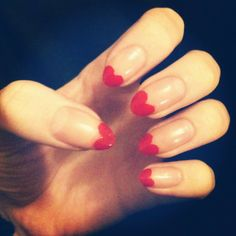 Valentines Day Nail Art... heart tips:)