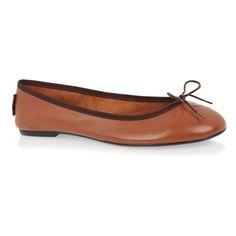 Leather ballet pumps, Classic Ballet Brown