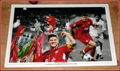 Signed Liverpool FC Photo - Steven Gerrard Istanbul Champions League Final XL
