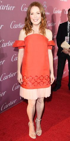 Look of the Day - January 5, 2015 - Julianne Moore in Delpozo from #InStyle
