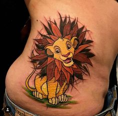 What does simba tattoo mean? We have simba tattoo ideas, designs, symbolism and we explain the meaning behind the tattoo. Best Tattoos For Women, Trendy Tattoos, Cute Tattoos, Beautiful Tattoos, New Tattoos, Tatoos, Peace Tattoos, Movie Tattoos, Disney Sleeve Tattoos