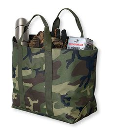 LL Bean tote in camo. My kind of camo bag Camo Bag, Shopper, Fall Trends, Ll Bean, Canvas Tote Bags, Fathers Day Gifts, Purses And Bags, Handbags, Wallet