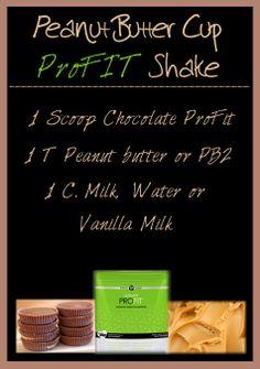 It Works! Global ProFit shake recipe. Chocolate or Vanilla flavor. http://amys.myitworks.com