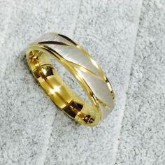 2016 accessoires de mode Simple 18 k or anneau de mariage pour hommes et femmes anneau en acier inoxydable