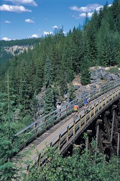Cycle the British Kettle Valley railway trail, part of the Trans Canada Trail (Okanagan Valley, BC). List of entrances included in article British Columbia, Rocky Mountains, The Places Youll Go, Places To See, Alaska, Ontario, Canadian Travel, Western Canada, Seen