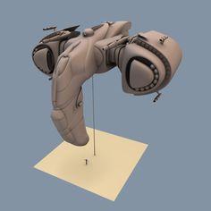 3D Eve Starship - 3D Model