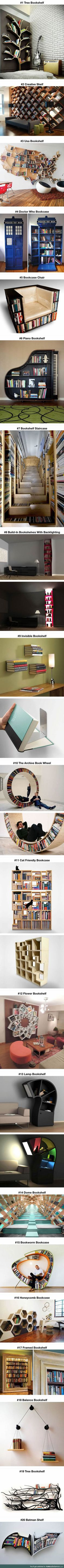 20 Most Creative Bookshelves For Your Home