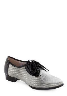 vegan striped oxford shoe