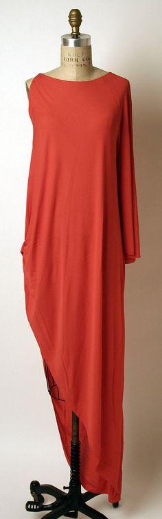 Madame Grès (Alix Barton) (French, 1903–1993). Dress, Evening, 1960s. French. The Metropolitan Museum of Art, New York. Gift of Anne Englehard de la Renta, 1994 (1994.554.2) #reddress