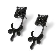Hanging cat earrings from Claire's