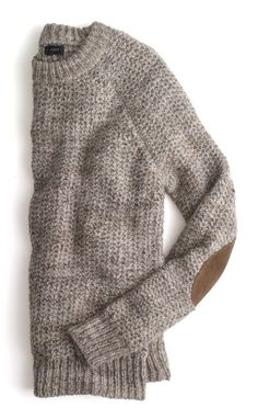 J.Crew marled colorblock-shoulder sweater.