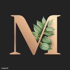 Web Design Quotes, Graphic Design Fonts, Lettering Design, M Letter Design, Alphabet Wallpaper, Creative Web Design, Flower Backgrounds, Tropical Leaves, Free Illustrations