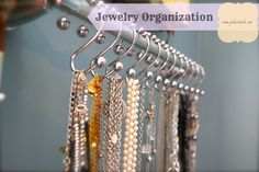 Shower curtain hooks for jewelry, belts, scarves
